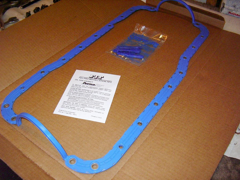 A one piece, metal reinforced, neoprene oil pan gasket... the only way to go if you don't want any leaks!