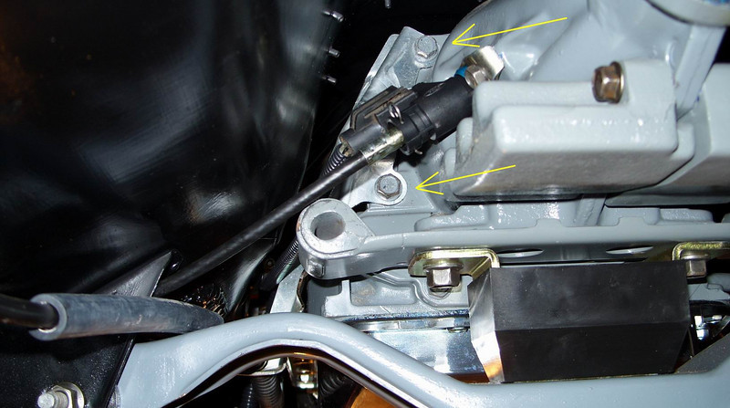 Got the TV cable bracket mounted along with the speedo cable and vehicle speed sensor.