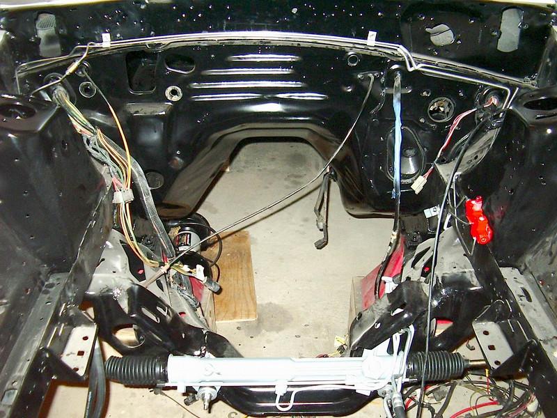New steering rack installed.