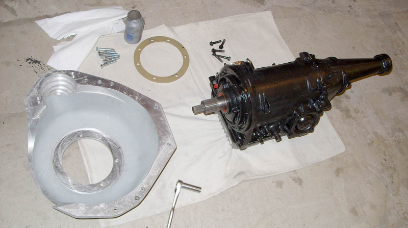 Tranny, bellhousing and spacer ring.