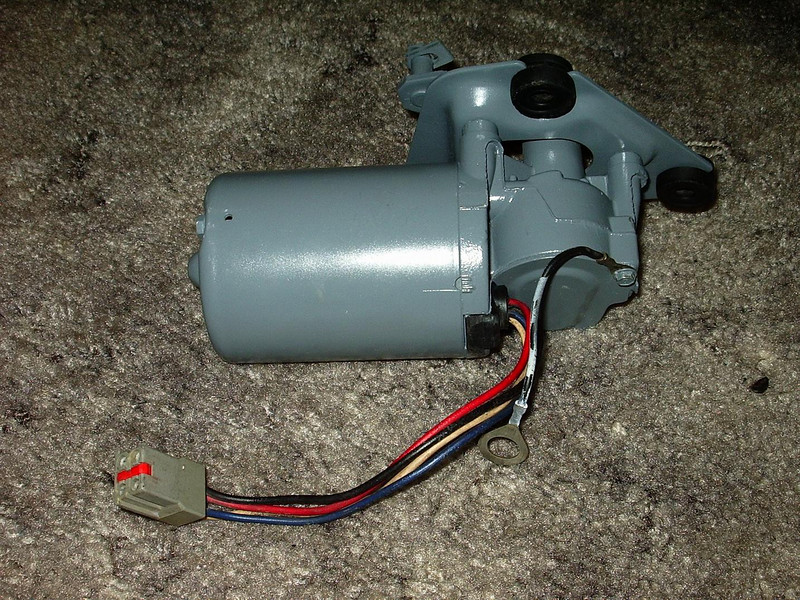 Sand blasted and painted the wiper motor.