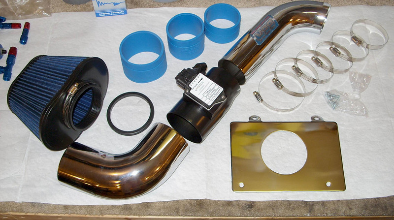New BBK cold air intake and Pro-M 75mm mass air meter ready to be put on.