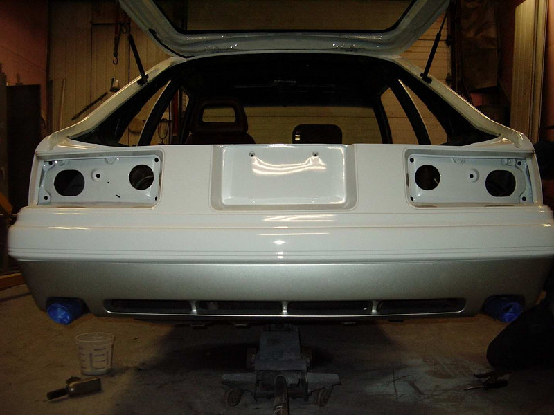 Just installed the Saleen rear valance and now onto the side skirts.