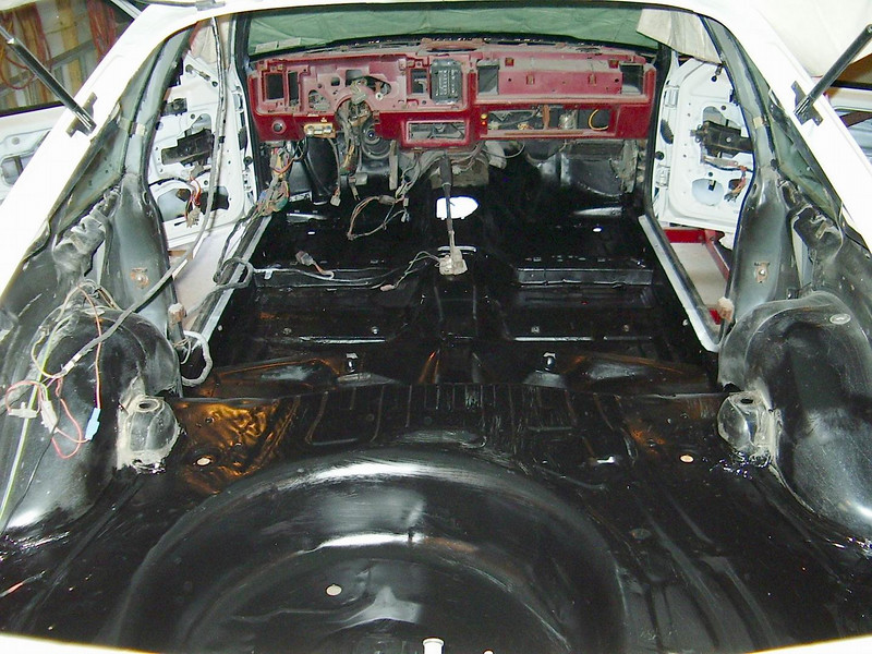 """After taken down to bare metal, I used a brush-on paint called """"Chassis Saver""""."""