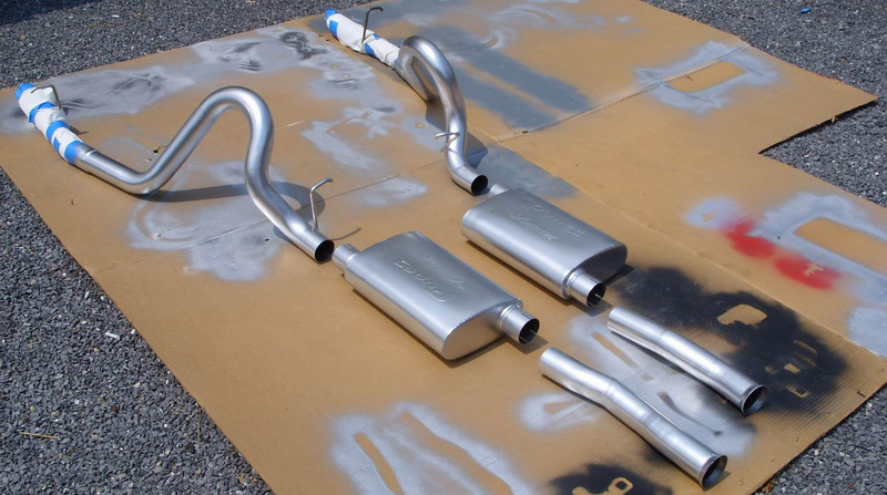 The Pypes exhaust freshly painted with high temp aluminized paint.