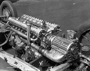 Delage supercharged engine for the Indy 1929