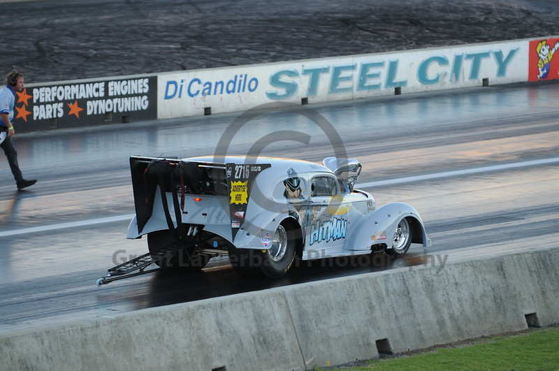 Racing at the Quit Motorplex in Kwinana Western Australia. The Hitman was a hit and a head turner!