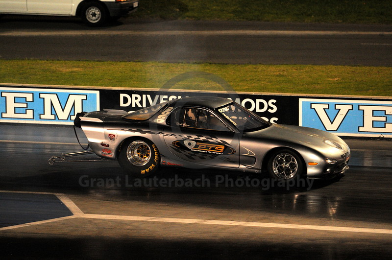 Racing at the Quit Motorplex in Kwinana Western Australia. Looks like a James Bond Mazda!