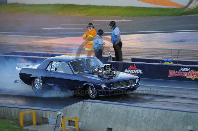 Racing at the Quit Motorplex in Kwinana Western Australia. A very tidy old Mustang with a lot of attitude and a serious contender in the show and shine.