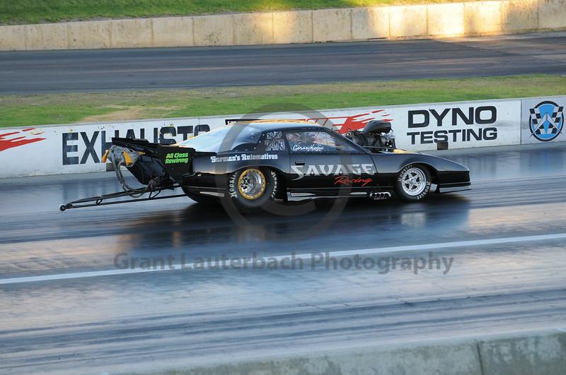 Drag racing at the Quit Motorplex in Kwinana Western Australia.