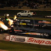 Top Fuel Dragsters racing at the Quit Motorplex in Kwinana Western Australia.