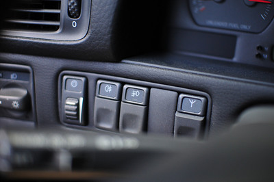 Headlight switch - dash dimmer - rear foglight - front foglight - blank - power antenna override