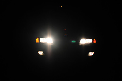 I needed to realign my headlights (see left highbeam.)