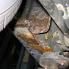 Left rear rocker-panel (underneath)