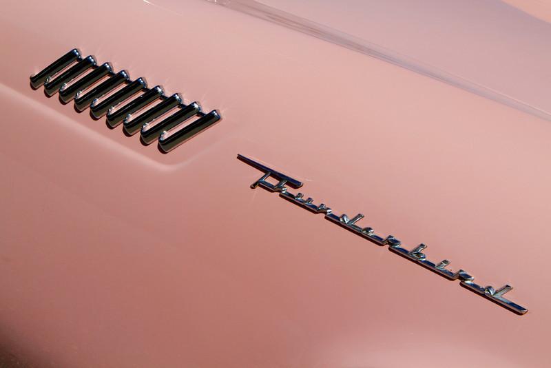 1957 Thunderbird in original Desert Rose colour.