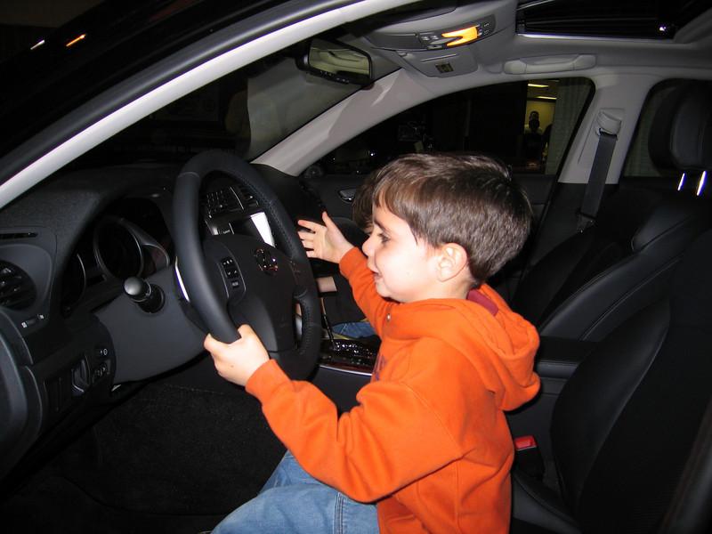 Marco drives an Infiniti G37