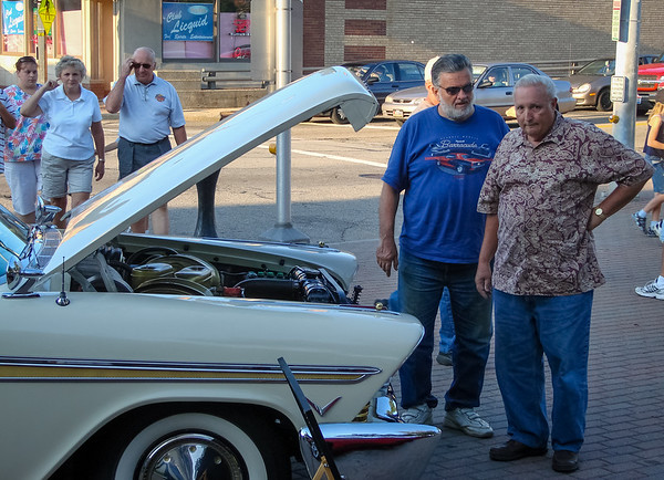 Rich and Tom checking out a Plymouth Fury