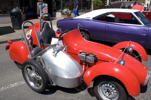 It's a combination of a '58 Alfa Romeo, Triumph, Ford, Honda, and Harley-Davidson.