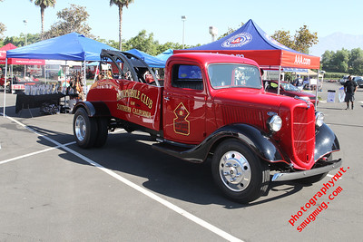 """Ford Model A"" "" Wrecker Tow Truck"" by the ""Automobile Club"" ""Guns and Hoses II Ontario Ca. Police Department 7 28 2012"""