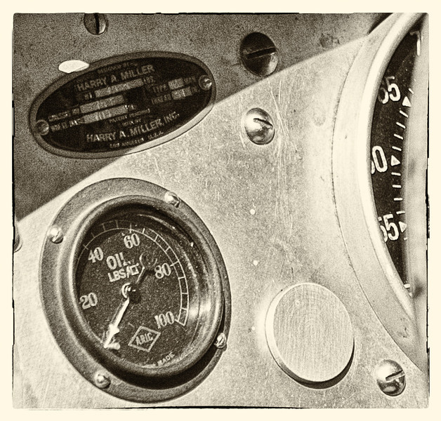 1923 Miller 2 liter Grand Prix Car dash