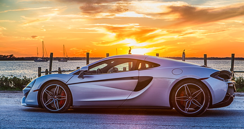 McLaren at sunset