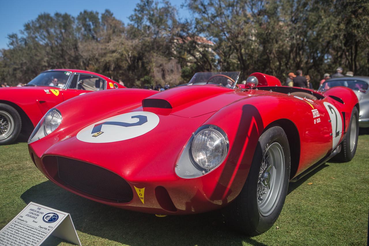 1958 Ferrari 412S/0744 Scaglietti. Driven by Hill, Moss, Hawthorn, Fangio