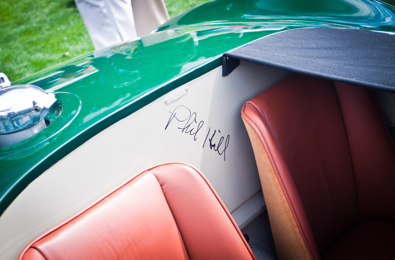 1952 Jaguar C-Type, Phil Hill Autograph