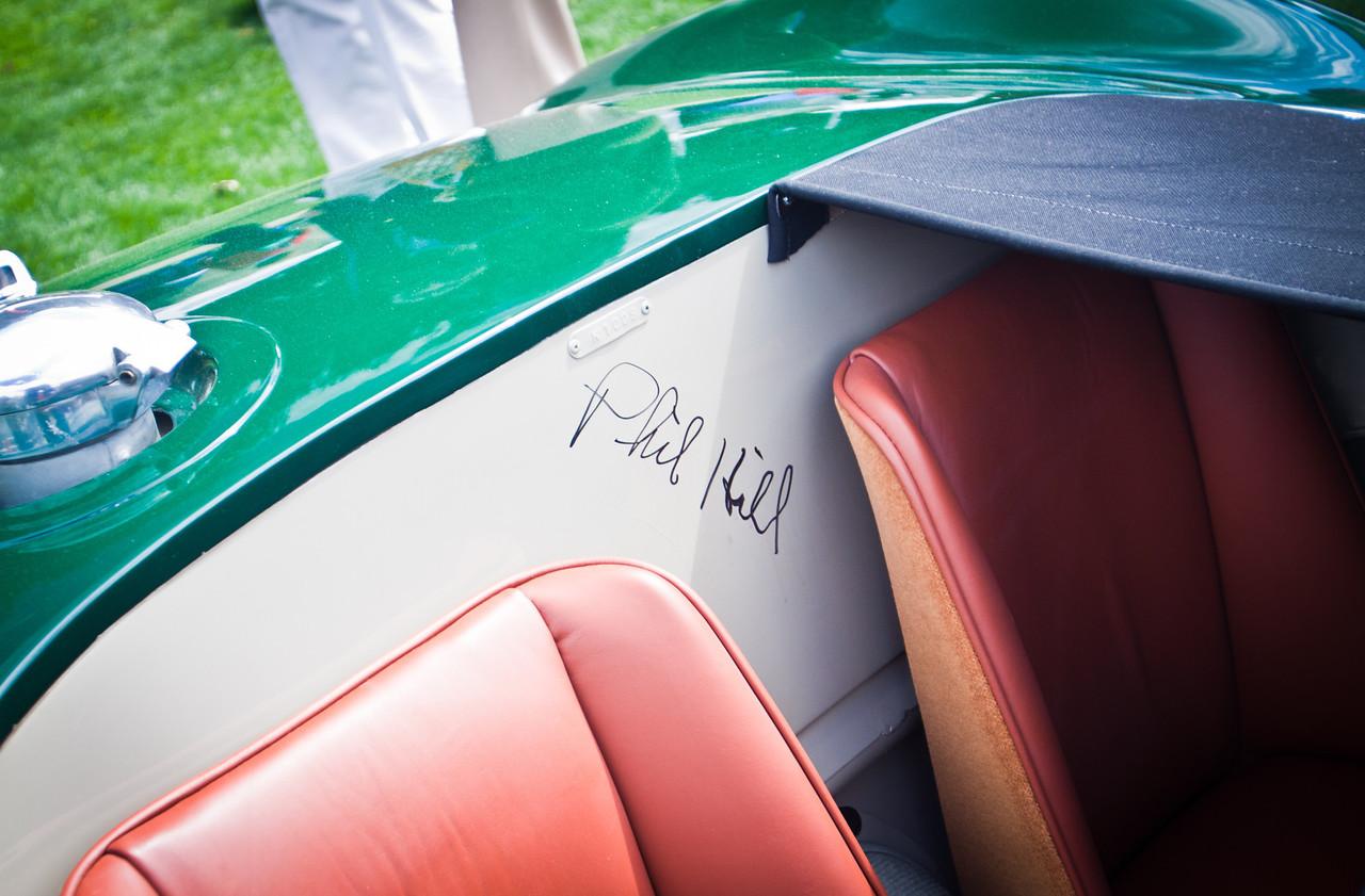 1952 Jaguar C-Type, Phil Hill Autograph