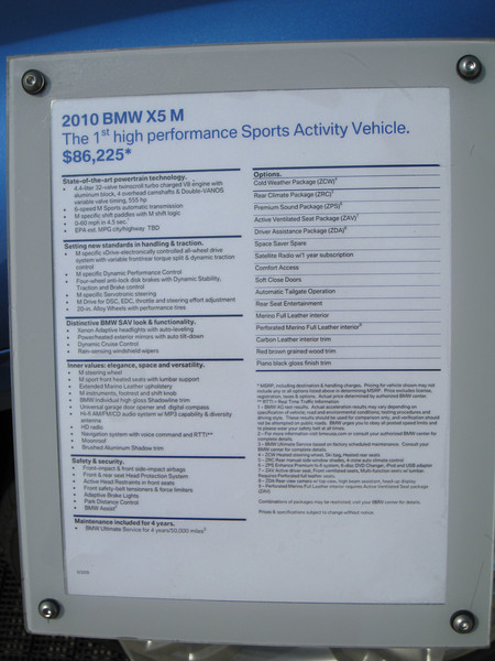 BMW X5 M Display info