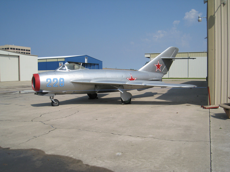 MiG-15 at the Cavanaugh flight museum the event was held at
