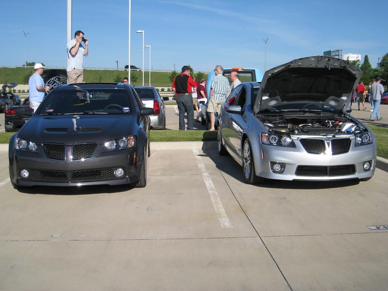 My G8 GT next to Jason's G8 GXP