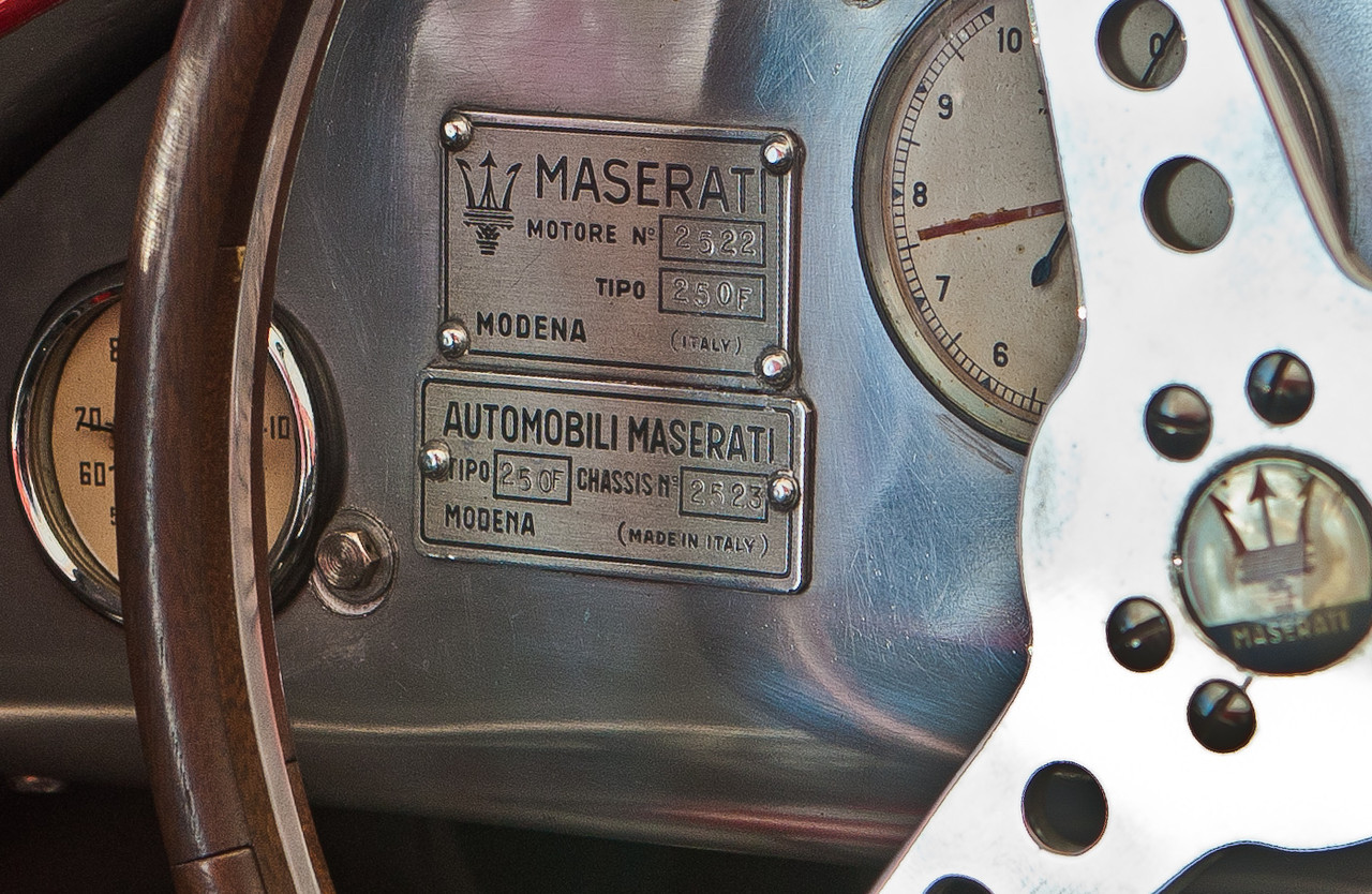 1953 Maserati 250F #2501/2523 ex-Stirling Moss, owned by Peter Giddings