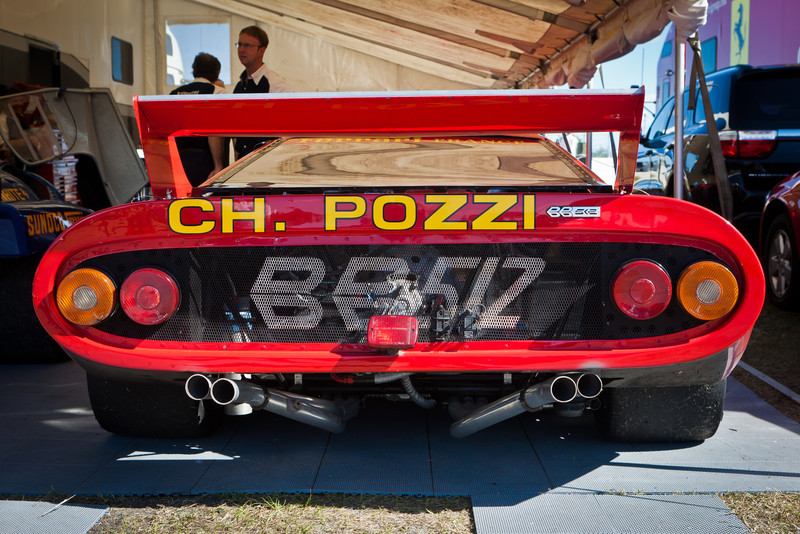 Ferrari 512 BB in the paddock at PBIR