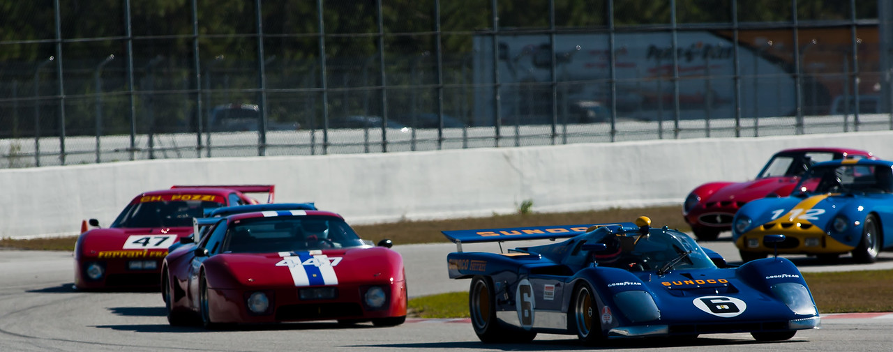 1971 Ferrari 512M leads two 512 BBs and two GTOs