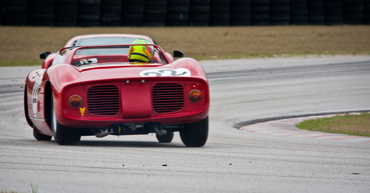 1964 Ferrari 275P/0812 Sebring Winning Car - Body Lean