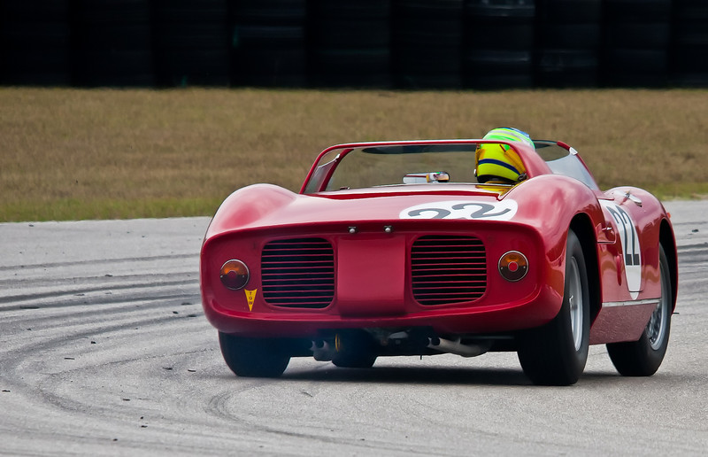 1964 Ferrari 275P/0812 Sebring Winning Car - Exiting Corner