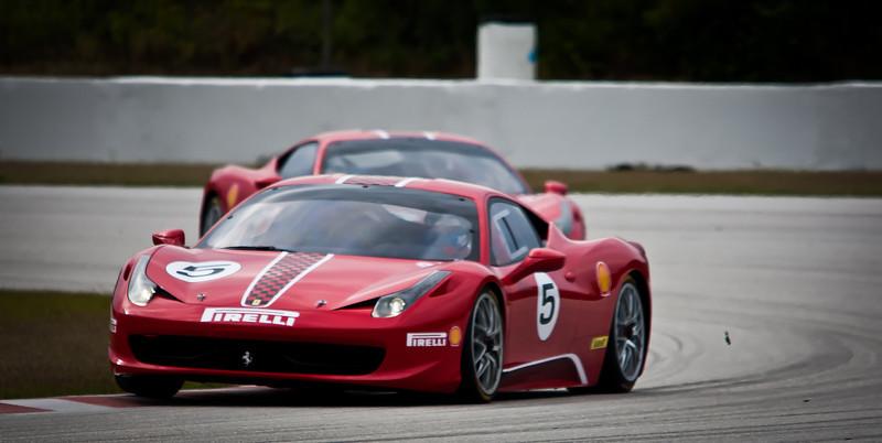 Ferrari 458's at speed