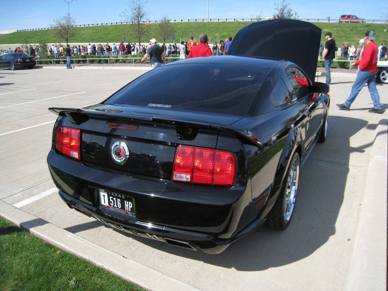 "Ford Mustang with one of the new ""T"" Texas license plates"
