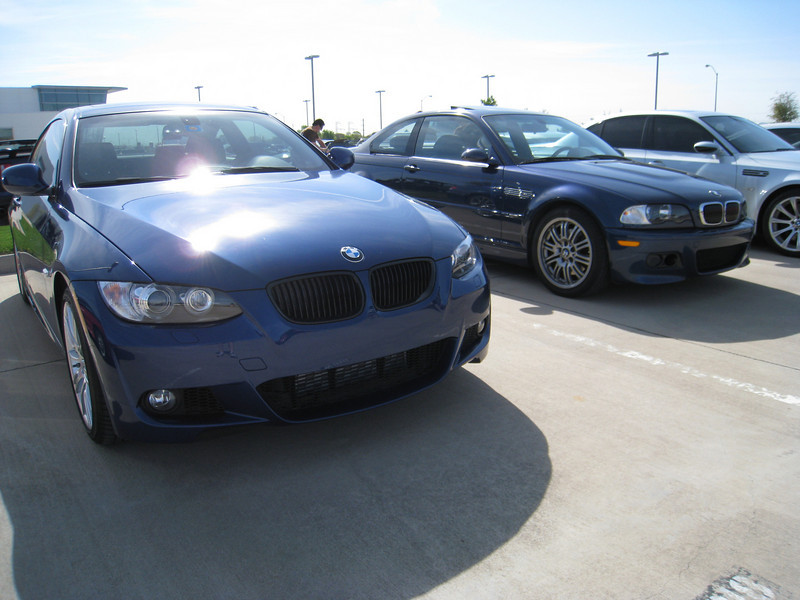 BMW E46 M3 (right) and 335i M Sport coupe (left)