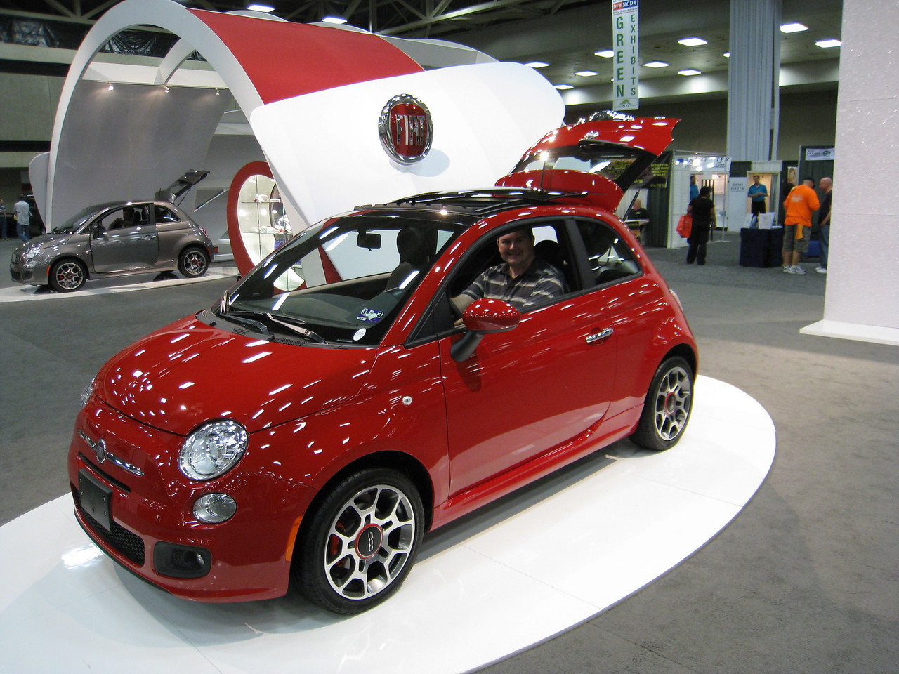 Sean and Jason in the 2012 Fiat 500