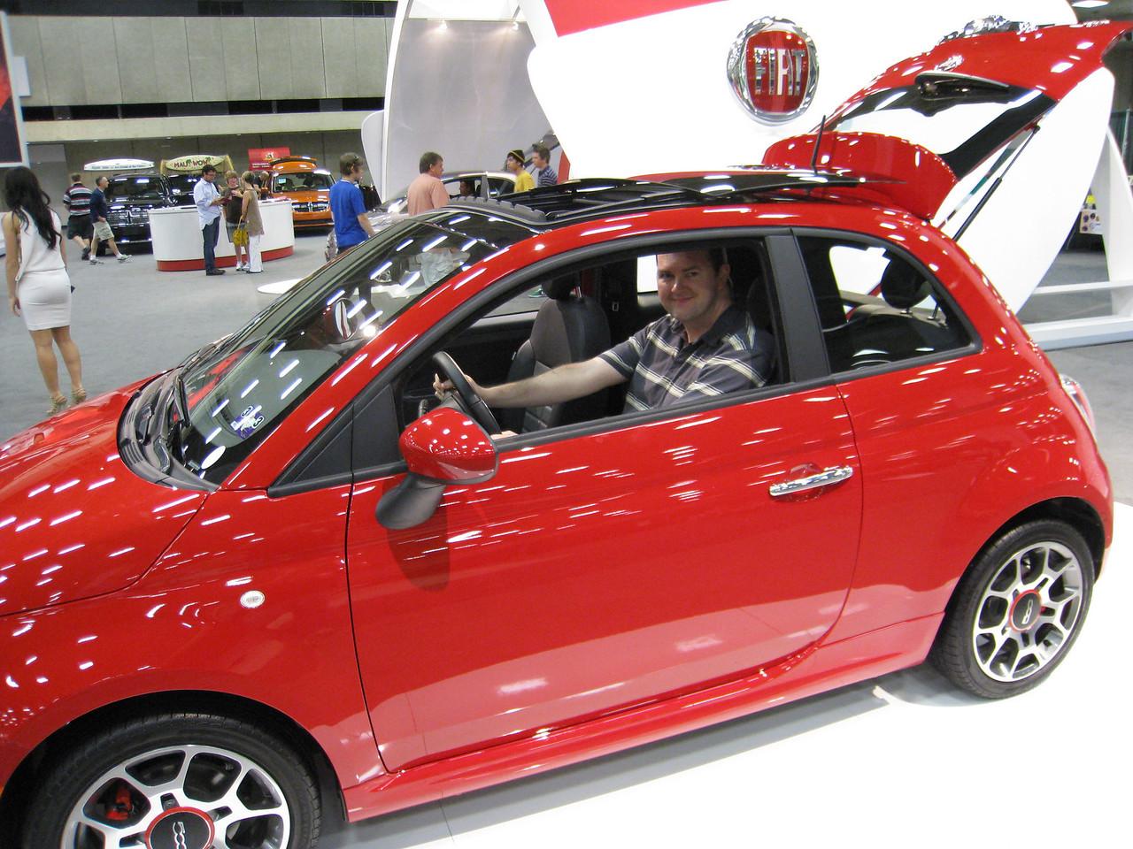 Sean in the 2012 Fiat 500