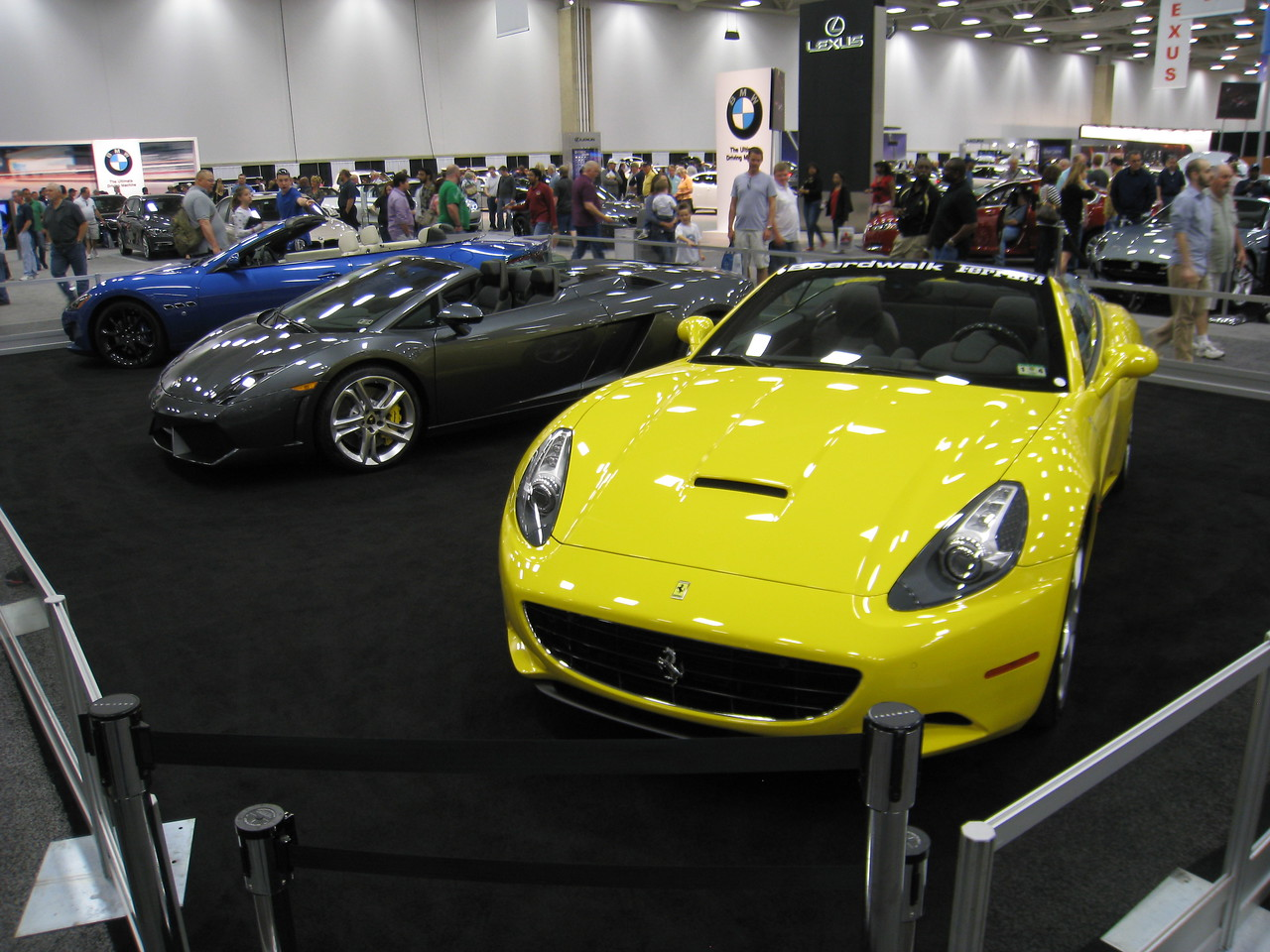 Ferrari California and Lamborghini Gallardo