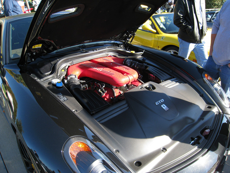 Ferrari 599 GTO under the hood