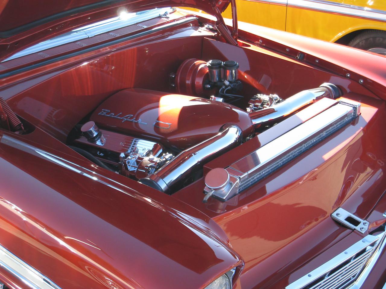 Chevy Bel Air engine - clean!