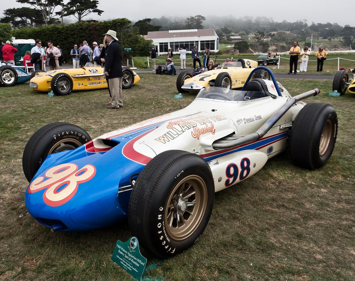 1960 Watson Agajanian-Willard Battery Special Indy car--1963 race winner drive by Parnelli Jones