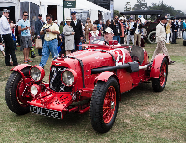 1935 Aston Martin Ulster Race Car driven by owner and Pink Floyd drummer Nick Mason