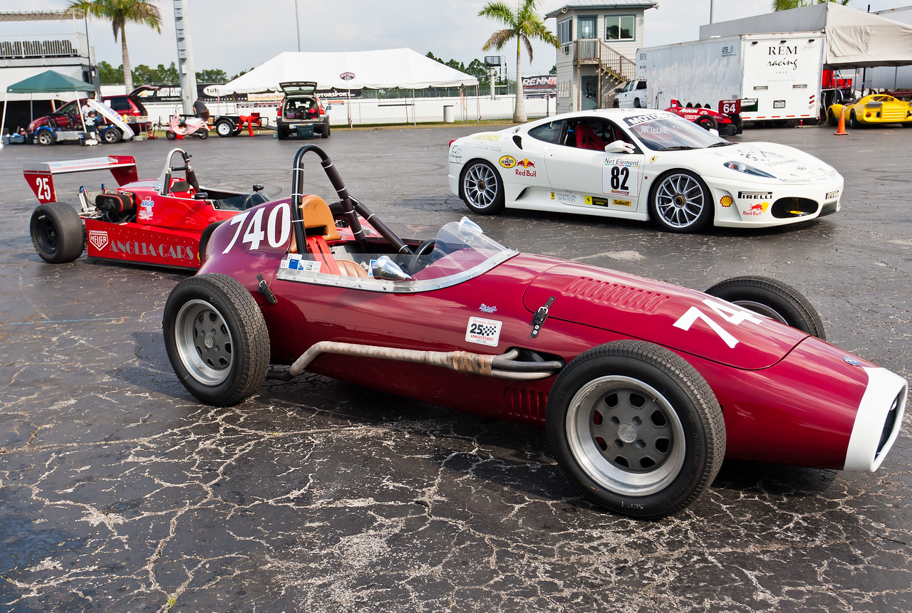 1959 OSCA Formula Junior in foregrounnd,
