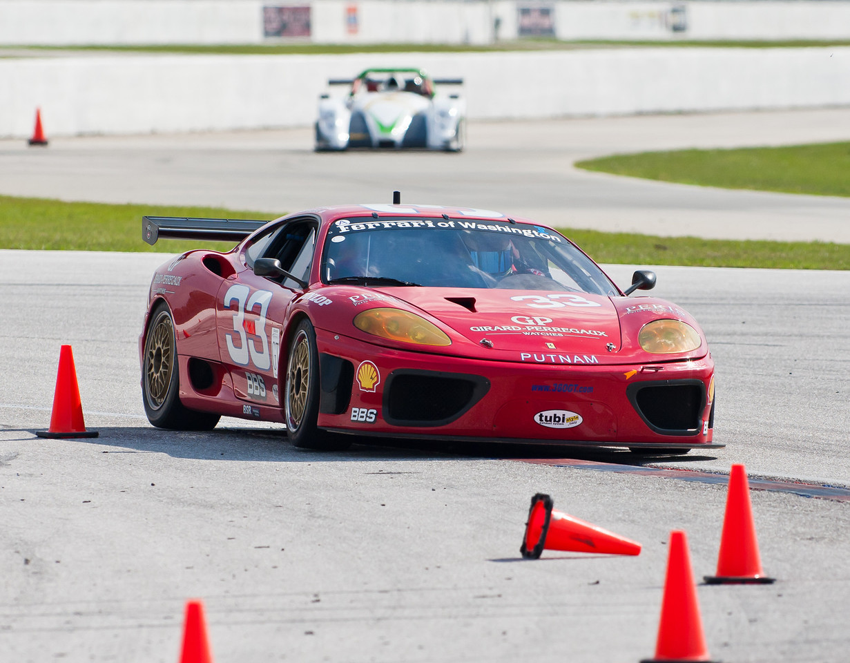 2002 Ferrari 360 GT s/n 2008. Five first in class wins in 2002 Grand Am GT in 2002 and 3 in 2003. Holds record for most consecutive wins