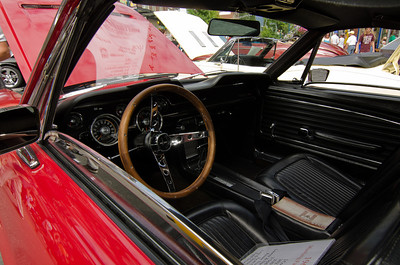 Interior shot of the '68 Fastback.