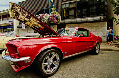 A perfect condition 1968 Ford Mustang Fastback.